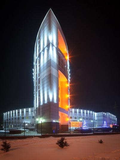 Подсветка фасадов национального банка Республики Бурятия