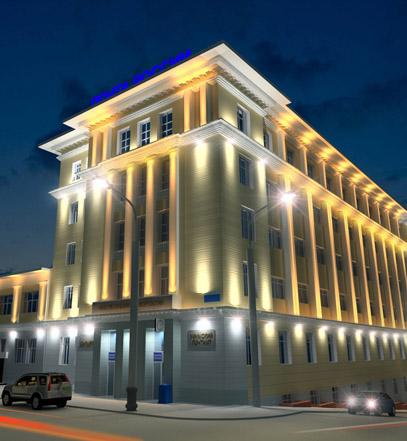 Подсветка фасадов уфимского почтамта