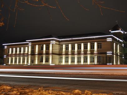 Архитектурное освещение здания макаронной фабрики