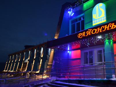 Архитектурная подсветка здания дома культуры