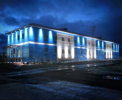 Архитектурное освещение здания ОАО «АЛРОСА-Газ»