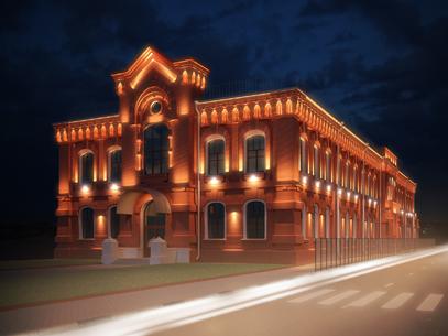 Архитектурное освещение здания филиала РГСУ