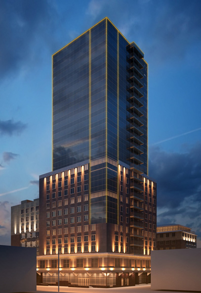 Архитектурная подсветка здания БЦ «Сити-центр»