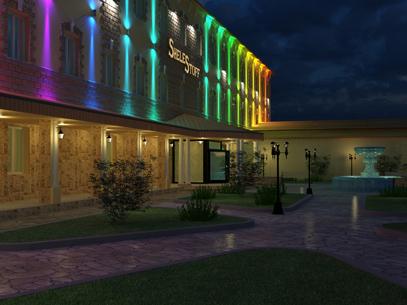 Архитектурное освещение здания гостиницы «Шелестов»