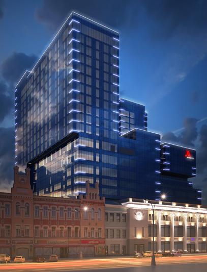 Архитектурная подсветка фасадов здания ЦУМа