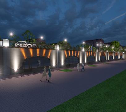 Архитектурная подсветка здания SPA-центра «Муравьевка»