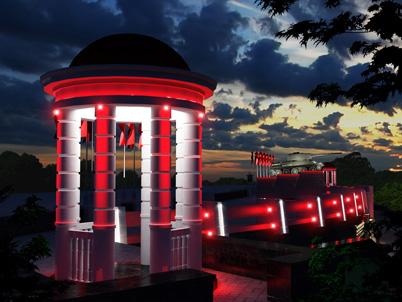 Архитектурная подсветка Мемориала Победы