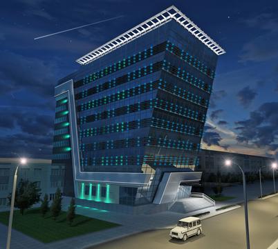 Архитектурная подсветка административного здания