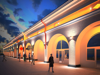 Архитектурная подсветка здания Гостиных рядов