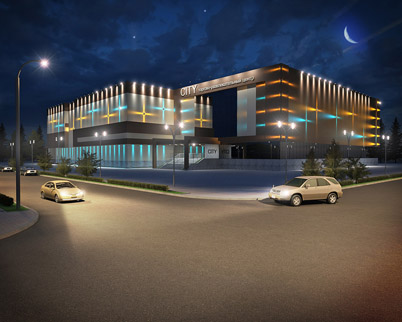 Архитектурное освещение здания ТРК «Сити»