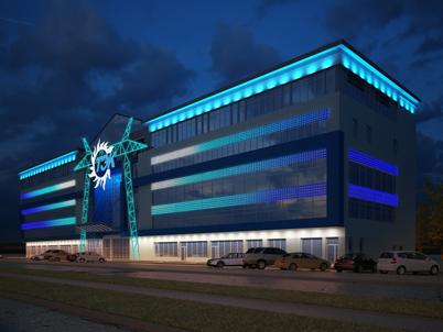 Архитектурное освещение здания ТЭК-Сургут