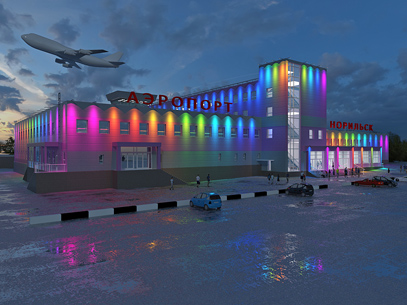 """Подсветка аэропорта """"Норильск"""""""