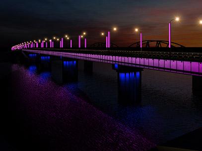Архитектурно-художественное освещение Селенгинского моста