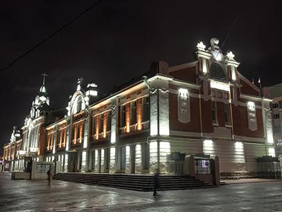 Архитектурная подсветка Краеведческого музея